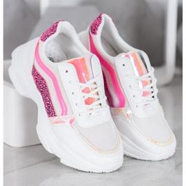 Marquiz Sneakersy Z Neonowymi Wstawkami białe wielokolorowe 2