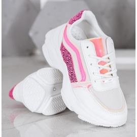 Marquiz Sneakersy Z Neonowymi Wstawkami białe wielokolorowe 3