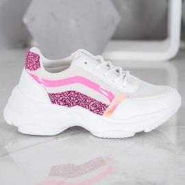 Marquiz Sneakersy Z Neonowymi Wstawkami białe wielokolorowe 4