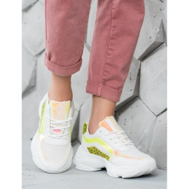 Marquiz Sneakersy Neonowymi Wstawkami białe wielokolorowe 1