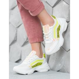Marquiz Sneakersy Neonowymi Wstawkami białe wielokolorowe 2