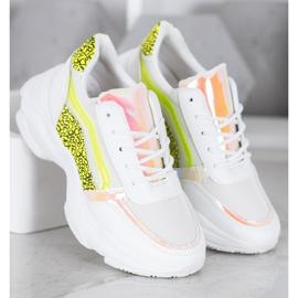 Marquiz Sneakersy Neonowymi Wstawkami białe wielokolorowe 3