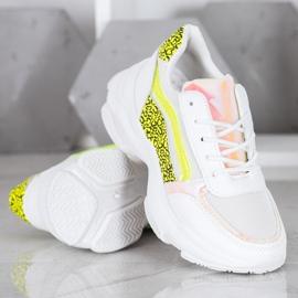 Marquiz Sneakersy Neonowymi Wstawkami białe wielokolorowe 4