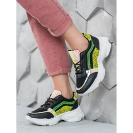Marquiz Sneakersy Z Neonowymi Wstawkami czarne wielokolorowe 2