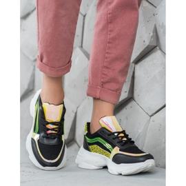 Marquiz Sneakersy Z Neonowymi Wstawkami czarne wielokolorowe 3