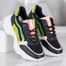Marquiz Sneakersy Z Neonowymi Wstawkami czarne wielokolorowe 1