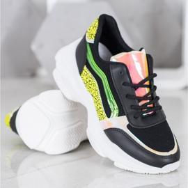 Marquiz Sneakersy Z Neonowymi Wstawkami czarne wielokolorowe 4