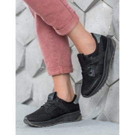 SHELOVET Czarne Buty Sportowe 3
