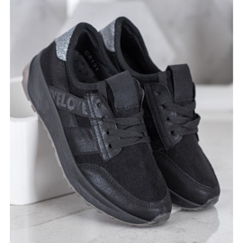 SHELOVET Czarne Buty Sportowe 2