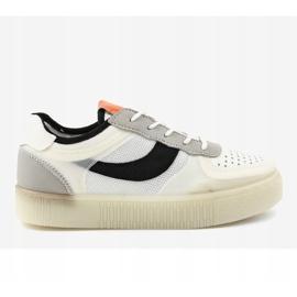 Białe obuwie sportowe sneakersy LA51P 2