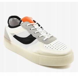 Białe obuwie sportowe sneakersy LA51P wielokolorowe 1