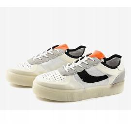 Białe obuwie sportowe sneakersy LA51P wielokolorowe 3