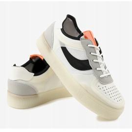 Białe obuwie sportowe sneakersy LA51P wielokolorowe 4