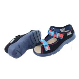 Befado obuwie dziecięce  869X140 czerwone granatowe niebieskie 4