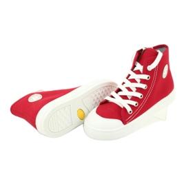 Befado obuwie dziecięce 438X011 czerwone 4