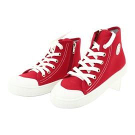 Befado obuwie dziecięce 438X011 czerwone 3