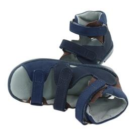 Sandałki wysokie profilaktyczne Mazurek 291 granat/brąz granatowe 5