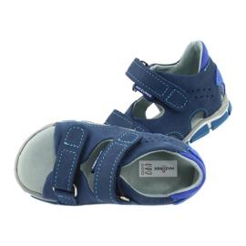 Sandałki na rzepy Mazurek 314 granat/niebieski granatowe niebieskie 5