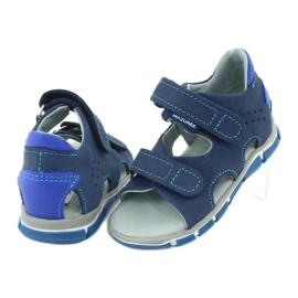 Sandałki na rzepy Mazurek 314 granat/niebieski granatowe niebieskie 3