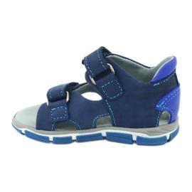Sandałki na rzepy Mazurek 314 granat/niebieski granatowe niebieskie 1