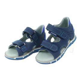 Sandałki na rzepy Mazurek 314 granat/niebieski granatowe niebieskie 2