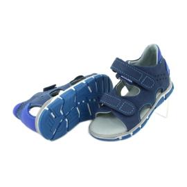 Sandałki na rzepy Mazurek 314 granat/niebieski granatowe niebieskie 4
