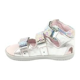 Sandałki wysokie profilaktyczne Mazurek 291 silver szare 1