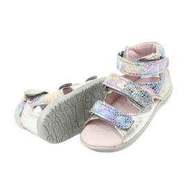 Sandałki wysokie profilaktyczne Mazurek 291 silver szare 4