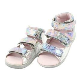 Sandałki wysokie profilaktyczne Mazurek 291 silver szare 2