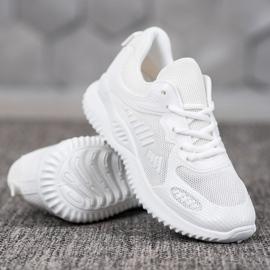 SHELOVET Sneakersy Z Siateczką białe 2