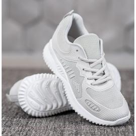SHELOVET Sneakersy Z Siateczką szare 3