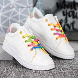 SHELOVET Modne Buty Sportowe białe 3