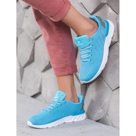 Ax Boxing Lekkie Ażurowe Buty Sportowe niebieskie 1