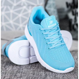 Ax Boxing Lekkie Ażurowe Buty Sportowe niebieskie 3