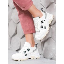 SHELOVET Białe Sneakersy Sport 1