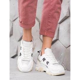 SHELOVET Białe Sneakersy Sport 5