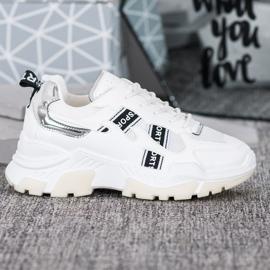 SHELOVET Białe Sneakersy Sport 2