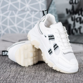 SHELOVET Białe Sneakersy Sport 3
