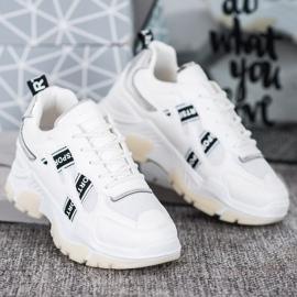 SHELOVET Białe Sneakersy Sport 4