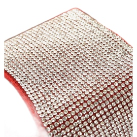 Czerwone klapki z cyrkoniami 839-761 szare 3