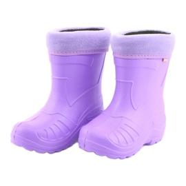 Befado dziecięce kalosze fiolet 162Y102 fioletowe 3