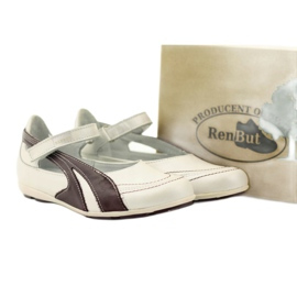 Ren But Ren-But balerinki przecena wielokolorowe białe 5