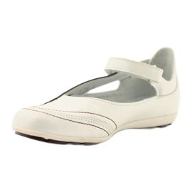 Ren But Ren-But balerinki przecena wielokolorowe białe 2