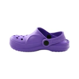 Befado Crocs obuwie dziecięce klapki 159Y002 fioletowe 2