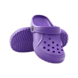 Befado Crocs obuwie dziecięce klapki 159Y002 fioletowe 3