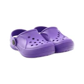 Befado Crocs obuwie dziecięce klapki 159Y002 fioletowe 4