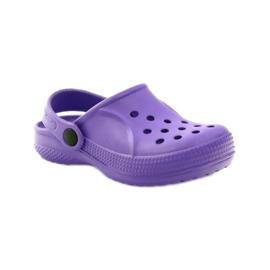 Befado Crocs obuwie dziecięce klapki 159Y002 fioletowe 1