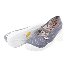 Befado obuwie dziecięce 116Y199 białe szare 3