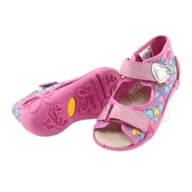 Befado żółte obuwie dziecięce 342P014 różowe 4