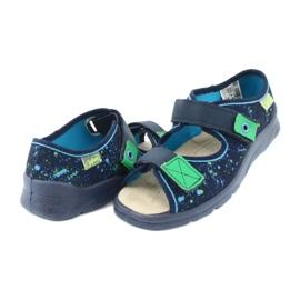 Befado obuwie dziecięce  869Y142 granatowe zielone 4